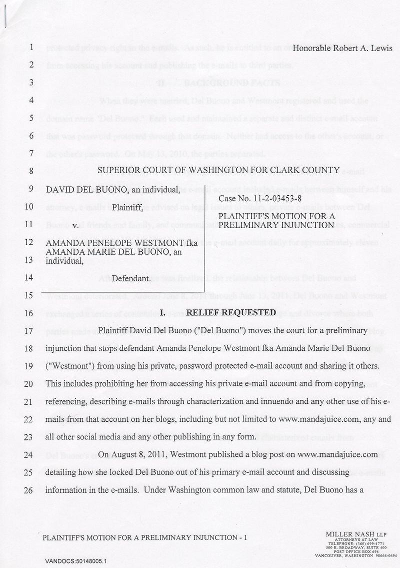 Lawsuit Pg 1